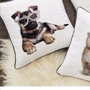 Pottery Barn Party Dogs Pillow Cover
